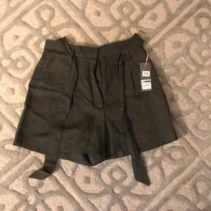 NORDSTROM SIGNATURE high waisted paper bag shorts